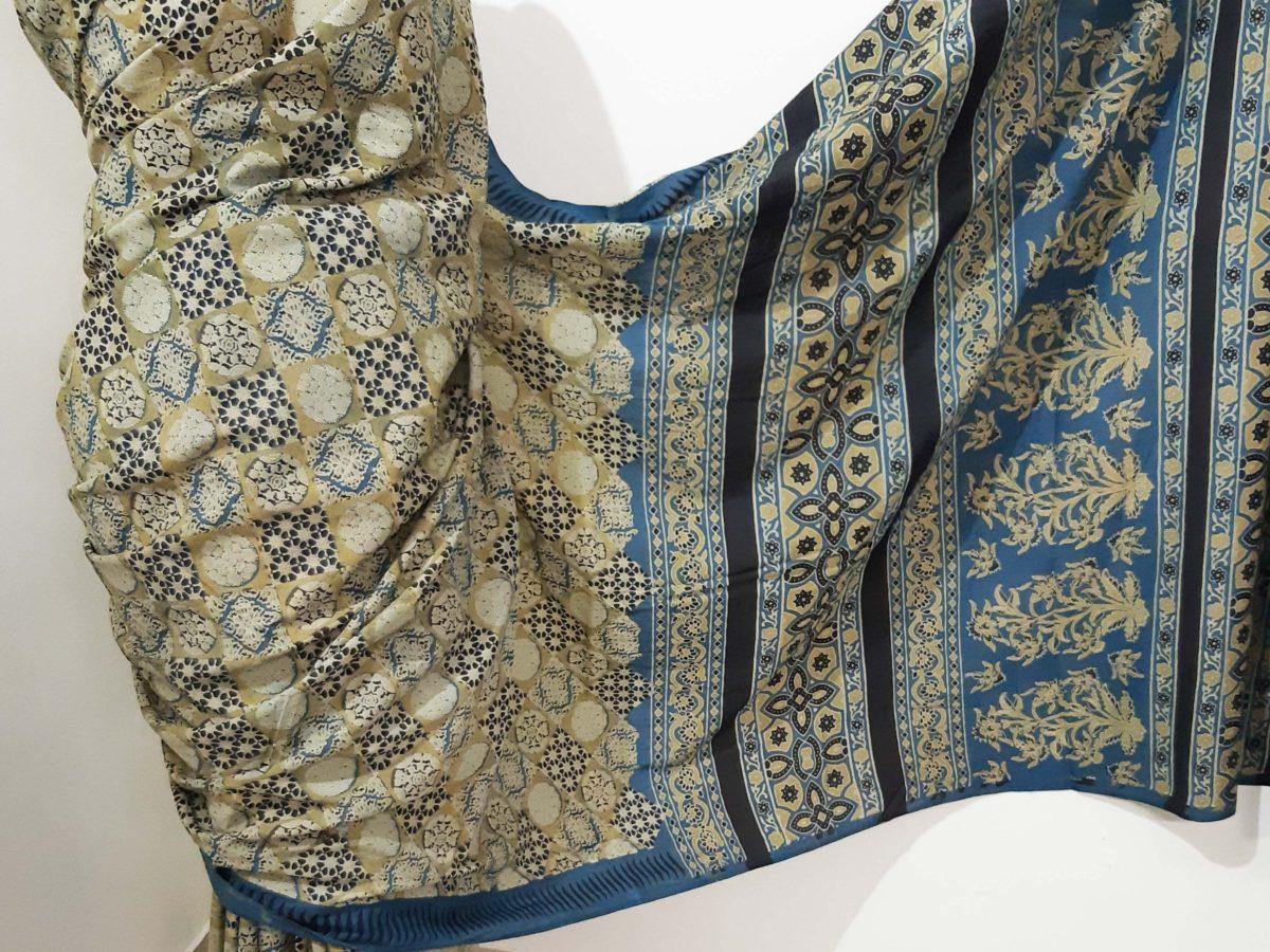 ajrakh silk saree online