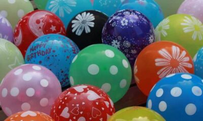 Various types of balloons
