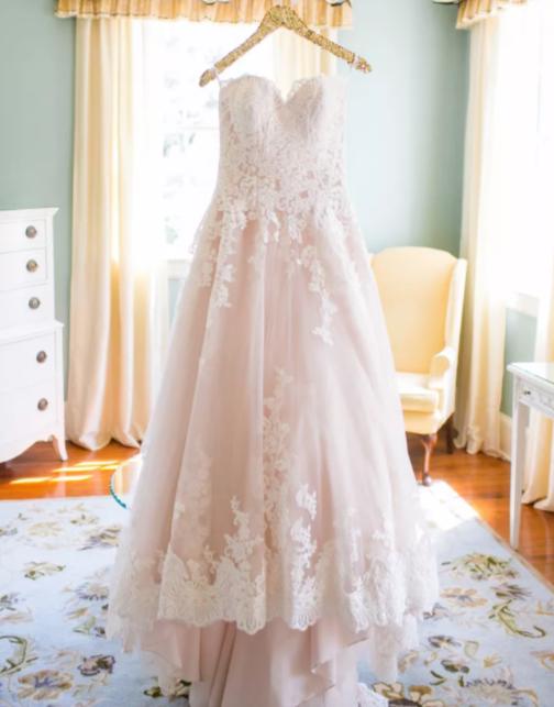 Pink wedding dresses for summer